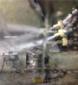 液体喷砂机喷砂工作照片